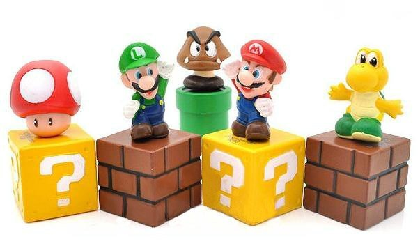 Simulation Brothers Luigi 5 figure of base set lot