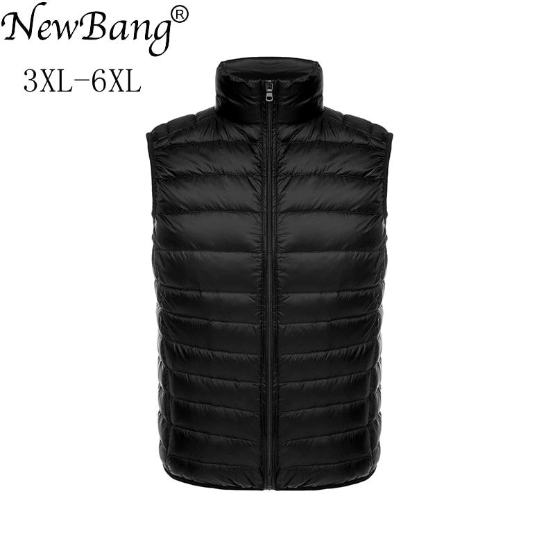 NewBang 5XL 6XL Large Size Ultra Light Down Vest Women Plus Duck Down Sleeveless Female Lightweight Windproof Portable Waistcoat