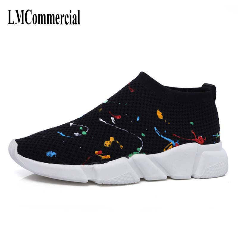 The 2017 men's shoes fabric shoes breathable mesh fly thick soles increased colorful men casual shoes black shoes. e toy word canvas shoes women han edition 2017 spring cowboy increased thick soles casual shoes female side zip jeans blue 35 40