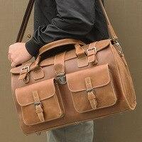 Брендовая мужская дорожная сумка из натуральной кожи, большая сумка тоут из телячьей кожи, Большая вместительная сумка, мужская сумка на вы