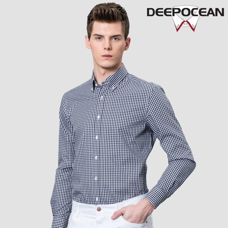 Mode hommes chemise d'affaires printemps nouveau coton hommes chemises longue tenue décontractée intelligente chemise minuscule Plaid Camisa De Hombre chemise 66502LW