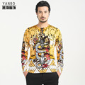 Personality Chinese style dragon sword pattern printing men sweater 2016 Autumn&Winter new fashion pullover sweater men M-4XL