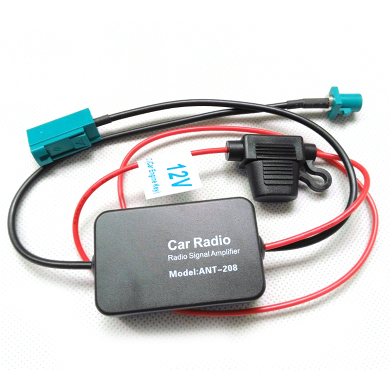 Car Antenna Fm Radio Signal Amplifier Antenna Fm Radio Signal Amplifier For VW Connector ANT-208 cargool universal car radio signal amplifier fm am signal booster antenna amplifier