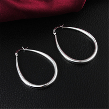 High Quality 925 Sterling Silver Earrings Plating  H Dig  Earrings Girls Fashion Earring Hot sale Anti-Allergic Gift