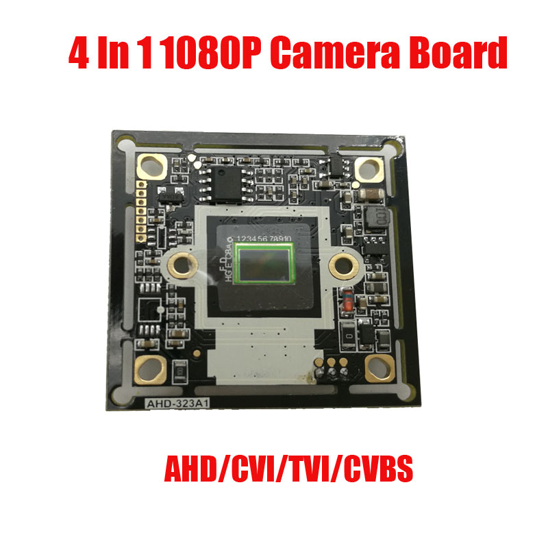 Free shipping  4 IN 1 AHD TVI CVI CVBS  2MP 1080P IMX323 CMOS+2441H DSP CCTV PCB Board With OSD Cable Camera Module camera board ahd 2 0megapixel cctv camera module pcb low illumination 0 001lux osd cable dc12v cvbs 2000tvl 3d noise reduction