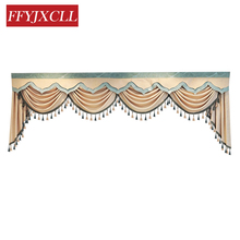 Custom Made Pelmet Valance Europe Luxury Curtains for Living Room Window Bedroom Lace Beads