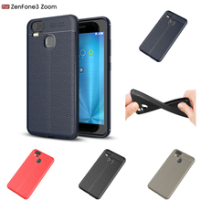 Slim PU Leather Case For Asus Zenfone 3 Zoom ZE553KL Silicone Soft Luxury Litchi Grain Cover Coque ZE553kl