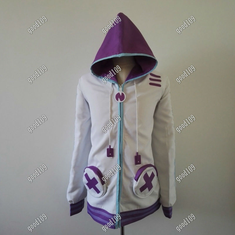 Netune Purple Heart Hoodie clothing Hyperdimension Neptunia Cosplay Costume