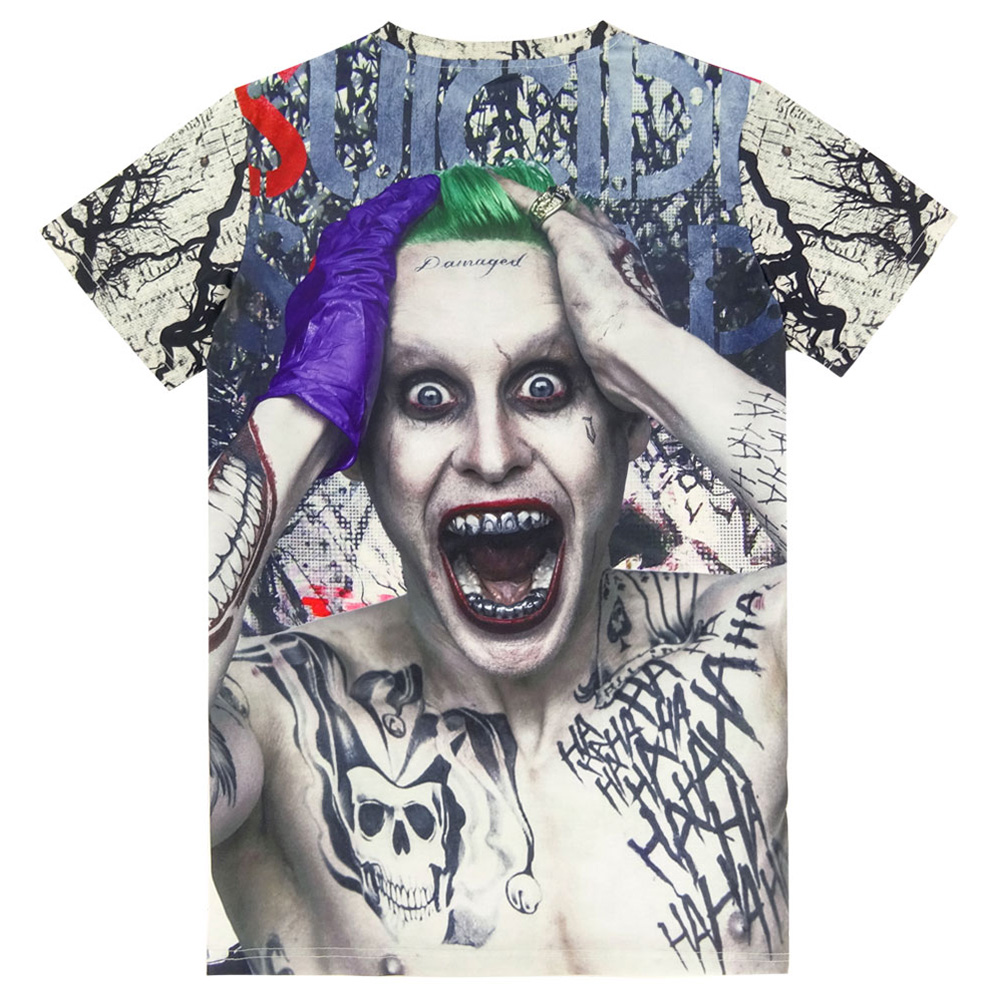 dd37cd8f23b4 Suicide Squad Mens Harley Quinn Joker 3D T Shirt Top Short Sleeve-in  T-Shirts from Men s Clothing on Aliexpress.com