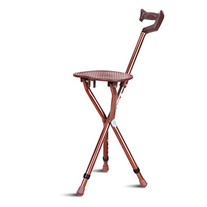 Image 2 - Cofoe ayarlanabilir alüminyum yürümebastonu koltuk ile katlanır koltuk değneği tabure teleskopik baston sandalye 3 bacak oturan Tripod kamışı