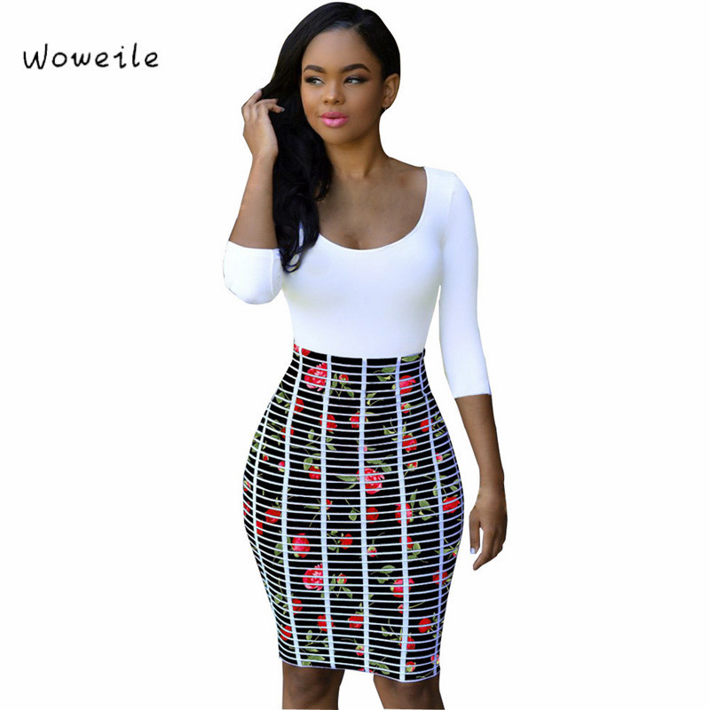 Dress on types bodycon neck body different size