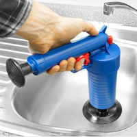 Toilets Cleaner Tool High Pressure Air Drain Blaster ABS Plastic Drain Cleaner Clogged Pipes And Drains