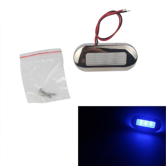 12V Marine Boat RV LED Light Blue/White Stainless Steel Anchor Stern Light