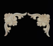 8pcs 7.1x7.1x0.8cm Wood carving trim angle flowers flower applique Decal European  solid wood furniture cabinets decorative dongyang wood carving applique motif wood shavings corner flower fashion solid wood furniture smd background wall ceiling home