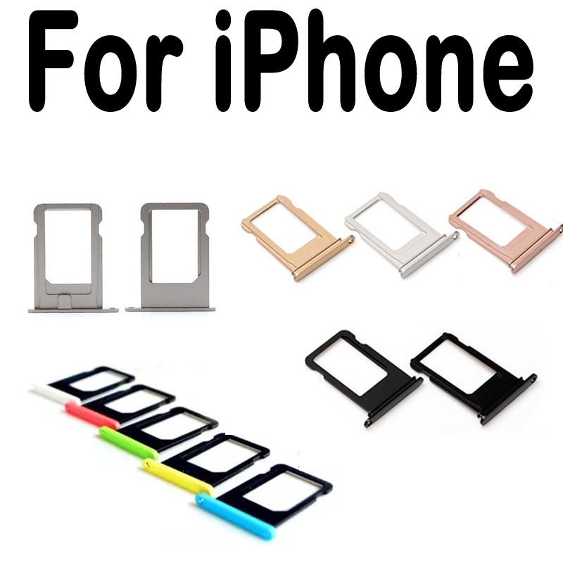 High Quality Card Tray For Apple iPhone 4 4S 5 5G 5S SE 5C 6 6S 7 Plus 5.5