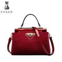 FOXER luxury fashion velvet ladies handbag 2018 new velvet platinum bag tide shoulder fashion Messenger bag