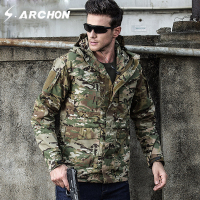 S ARCHON Autumn Pilot Tactical Jackets Men Teflon Waterproof Windbreaker Rip Stop Military Camouflage Jackets US