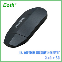 GGMM Miracast Wireless Wifi Dongle Portable Digital Mini TV Box Support 5G/2.4G 4K HD Ezcast AirPlay TV Stick