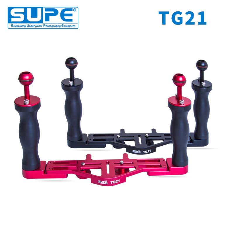 SUPE Scubalamp TG21 Double Tray Grip Underwater Scuba Diving