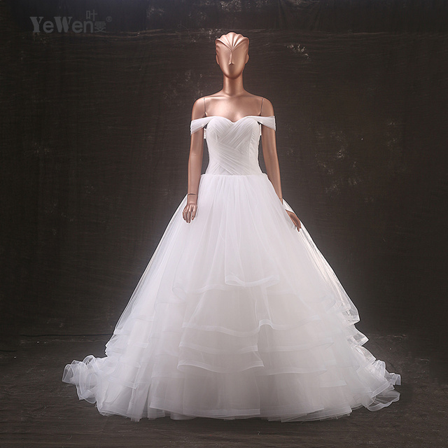 Beach Wedding dress 2018 Yewen off shoulder ball gown sweetheart ...