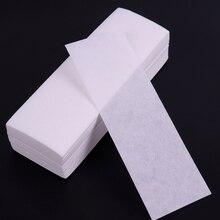 100 шт Нетканая ткань для удаления волос в рулонах восковой бумаги высокого качества эпилятор для удаления волос