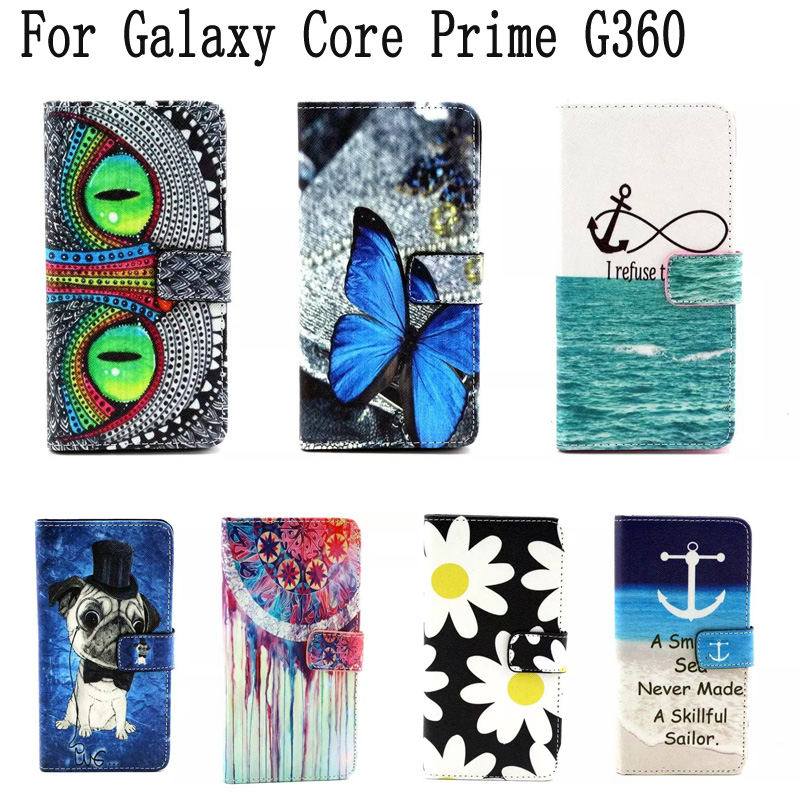 wallet style phone case coque for samsung galaxy core. Black Bedroom Furniture Sets. Home Design Ideas