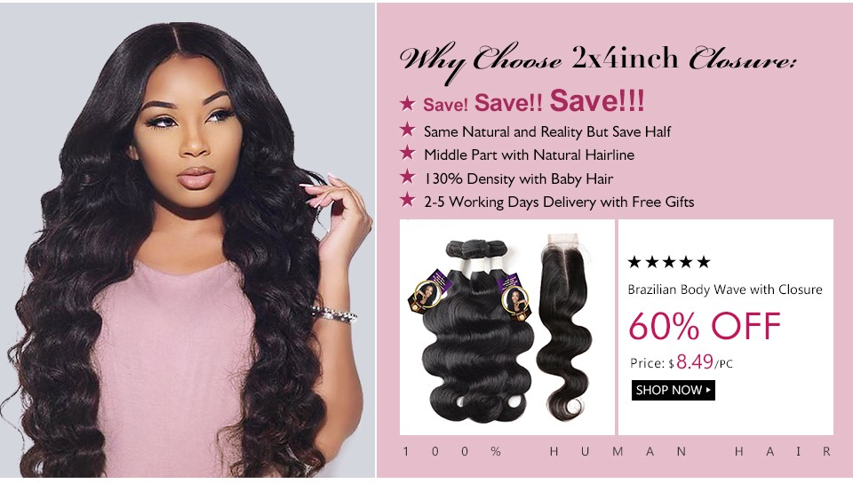 brazilian body wave hair with closure 960