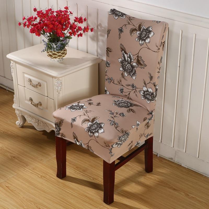 flor marrn silla cubre barato fundas para sillas para comedor decoracin de jacquard elstico corto mitad