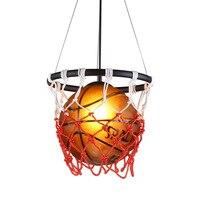 American Retro Basketball Chandelier Lighting Bar Decoration Led Pendant Kitchen Lighting Fixture Living Room Lights Hanging
