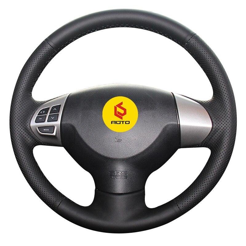Geflecht auf der Lenkrad Abdeckung für Mitsubishi Lancer X 10 2007-2015 Outlander 2006-2013 ASX 2010 -2013 cubierta del volante
