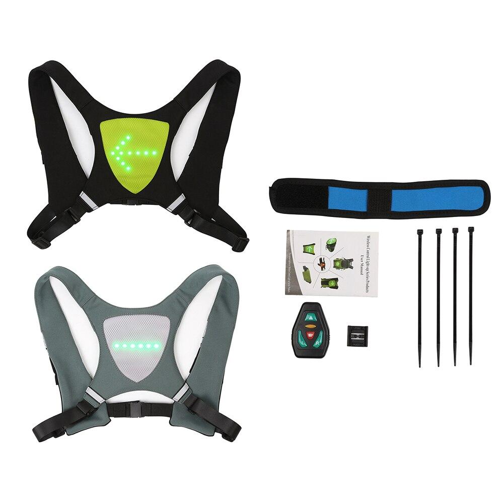 Cycling Bag Turn Signal Warning LED Bicycle Light Seat Safe Night Remote Control