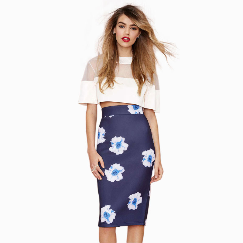 High waisted white midi pencil skirt – The most popular models skirts