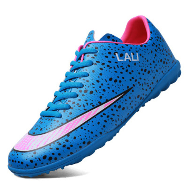 c78eaba7004 2018 new football broken spikes artificial turf adult training shoes short  nail high stripping space PVC