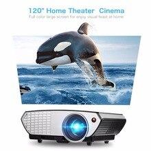 HD Projector 2000 Lumens LCD LED Multimedia Portable mini Video Projector Home Theater Cinema Movie Projector Black 803B