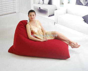 RED New arrival high back support waterproof outdoor beach bean bag