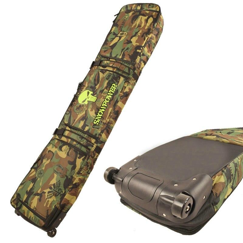 2019 nouveaux sacs de Snowboard 146 cm 156 cm 166 cm sacs de Ski pour adultes sac à dos sac à bandoulière unique avec roues sacs de Snowboard