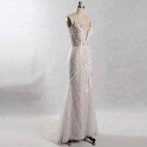 Image 3 - RSW815 съемное длинное свадебное платье со шлейфом 2 в 1