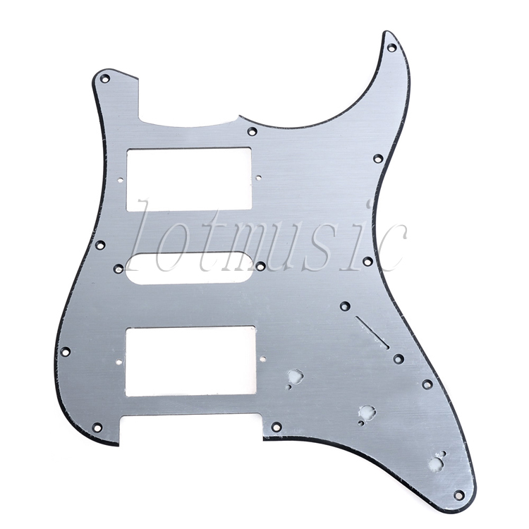 Aluminum Pickguard For Fender Stratocaster Style Electrc Guitar HSH,Brushed Surface