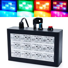 Auto and vioce Control 12RGB LED Stroboscope Disco Party DJ Strobe Grille Light Home Entertainment Music Show Stage Projector