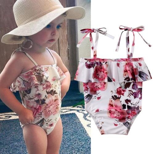 Sport & Unterhaltung GüNstiger Verkauf Neue Kind Kleinkind Kinder Baby Mädchen Einteilige Blumendruck Bandge Badeanzug Bademode Tankini Bikini Beachwear Kinder Bademode