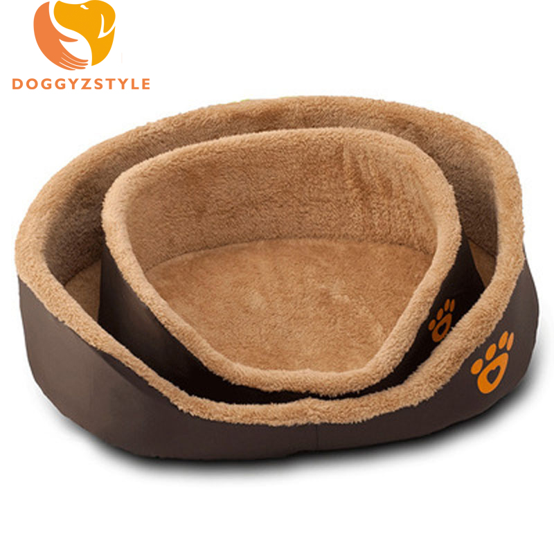 Pet Mats House Puppy Cat Warm Bed Blanket Printed Paw Sofa For Small Large Dogs Washable Round Fleece Cozy Soft Beds DOGGYZSTYLE
