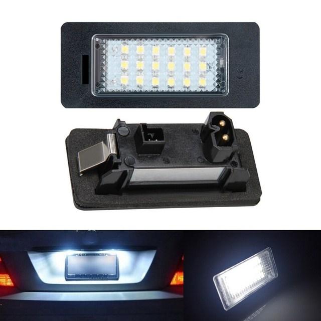2 pcs 18 LED Número Da Matrícula Lâmpada Luz Lâmpadas Livre de Erros Carro Fit para BMW E90 E92 M3 E70 E82 E88 E39 E60 E93 F30 F20 F21