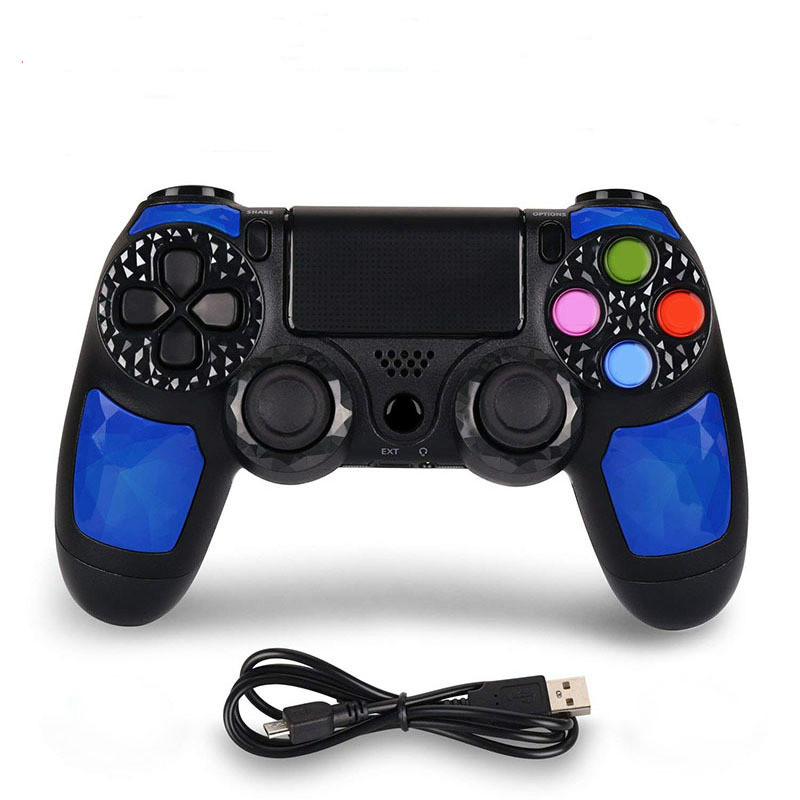 For PS4 Controller handle Wireless for Bluetooth Game joypad for Dual Shock Vibration Joystick Gamepad for PlayStation 4 in Gamepads from Consumer Electronics