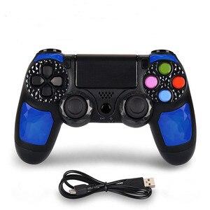Image 2 - PS4 için Kontrol kolu Kablosuz Bluetooth Oyun joypad için için Çift Şok Titreşim Joystick Gamepad için PlayStation 4