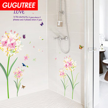 Decorate flower buttlefly art wall sticker decoration Decals mural painting Removable Decor Wallpaper LF-1735
