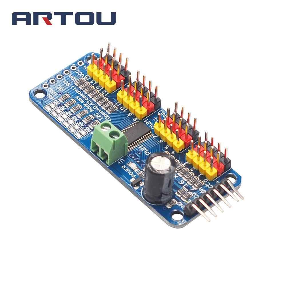 1PCS PCA9685 16-Channel 12-bit PWM Servo motor Driver I2C Module for Robot