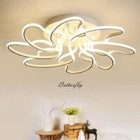 Пост современный Алюминий светодио дный потолочные светильники минималистский акрил дома осветительное оборудование творческая гостиная