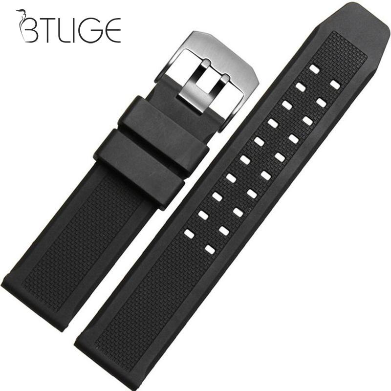23mm Soft Silicone Rubber Watch Strap Military Diving Sports Watch Band Bracelet For Luminox Strap Accessories Mens