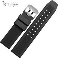 23mm Soft Silicone Rubber Watch Strap Military Diving Sports