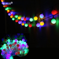 ZINUO 10M 60LED Globe Ball String Lights New Year Decoration Fairy Lights For Bedroom Illumination Christmas